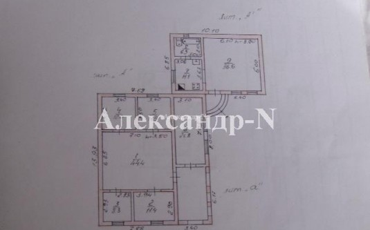 2-этажный дом (Крыжановка/Морская) - улица Крыжановка/Морская за