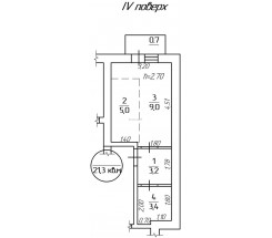1-комнатная квартира (Картамышевская/Косвенная) - улица Картамышевская/Косвенная за 368 400 грн.