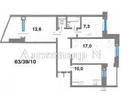 3-комнатная квартира (Королева Ак./Архитекторская) - улица Королева Ак./Архитекторская за 1 387 000 грн.