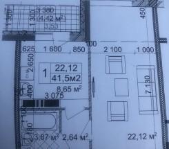 1-комнатная квартира (Жемчужная/Вильямса Ак.) - улица Жемчужная/Вильямса Ак. за 848 400 грн.