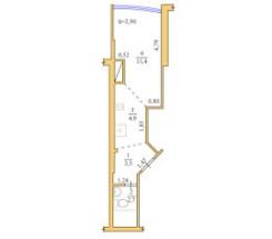 1-комнатная квартира (Люстдорфская дор./Глинки/Одиссей) - улица Люстдорфская дор./Глинки/Одиссей за 700 000 грн.