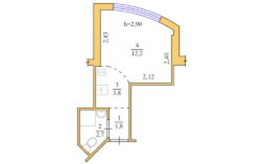 1-комнатная квартира (Люстдорфская дор./Глинки/Одиссей) - улица Люстдорфская дор./Глинки/Одиссей за