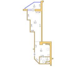 1-комнатная квартира (Люстдорфская дор./Глинки/Одиссей) - улица Люстдорфская дор./Глинки/Одиссей за 840 000 грн.