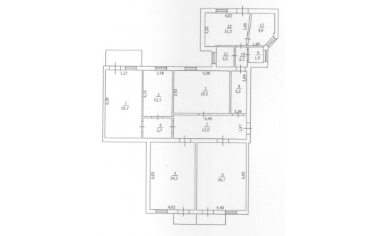 5-комнатная квартира (Базарная/Белинского) - улица Базарная/Белинского за