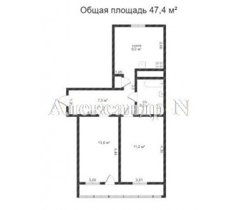 2-комнатная квартира (Промышленная/Химическая) - улица Промышленная/Химическая за 27 000 у.е.