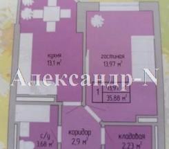 1-комнатная квартира (Вильямса Ак./Жукова Марш. пр./Акварель) - улица Вильямса Ак./Жукова Марш. пр./Акварель за 648 000 грн.