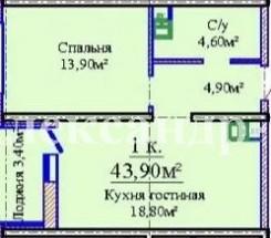 1-комнатная квартира (Жаботинского/Люстдорфская дор./Альтаир - 3) - улица Жаботинского/Люстдорфская дор./Альтаир - 3 за 868 000 грн.