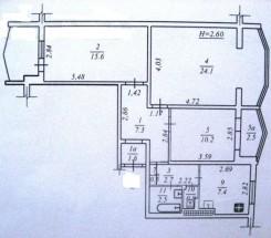 3-комнатная квартира (Добровольского пр./Линия 10-Я) - улица Добровольского пр./Линия 10-Я за 1 064 000 грн.