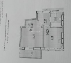 1-комнатная квартира (Бочарова Ген./Сахарова) - улица Бочарова Ген./Сахарова за 21 000 у.е.