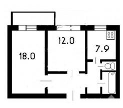 2-комнатная квартира (Бочарова Ген./Днепропетр. дор.) - улица Бочарова Ген./Днепропетр. дор. за 693 500 грн.