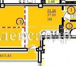 1-комнатная квартира (Цветаева Ген./Высокий пер./Одесский Двор) - улица Цветаева Ген./Высокий пер./Одесский Двор за 20 862 у.е.